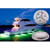 Wholesale IP68 Waterproof Boat Underwater LED Lights Blutooth Control 27W Marine Lights from china suppliers