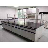 Quality Steel Wood Structure Lab Island Bench / Lab Test Furniture / Biology Lab Furniture for sale