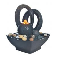 "Wholesale Home Collection 8.5"" Resin Garden Fountains Small Desk Water Fountain With River Stone from china suppliers"