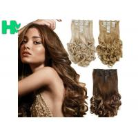 Wholesale 8 Inch – 30 Inch Clip On Synthetic Hair Extensions With Blonde Curly Body Wave from china suppliers