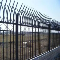 Wholesale Galvanized Bilateral Metal Mesh Fencing / Double Edged Fence Icon PVC Green Coated from china suppliers