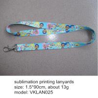 Wholesale Polyester sublimation print neck lanyards, exquisite heat transfer printing neck lanyards, from china suppliers