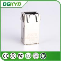 Wholesale 12 Pin Shielded 1000 BASE - TX Industrial Integrated magnetics RJ45 Connector, bi-color LED from china suppliers