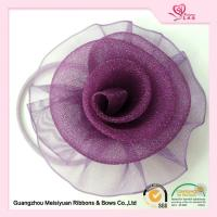 Wholesale Purple Decorative Sheer Organza ribbon flower hair bows 5.5cm Size from china suppliers