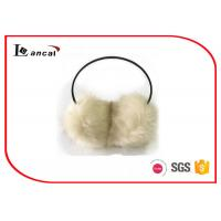 Wholesale Women White Winter Ear Muffs With 100% Modacrylic Nature Color Faux Fur from china suppliers