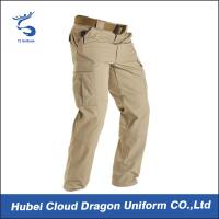 Wholesale Popular Lightweight  Khaki Tactical Combat Pants for Men With Slant Pockets from china suppliers