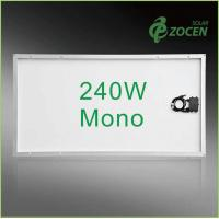 Quality CHUBB Insured 240W Monocrystalline Solar PV Panels , Silver Aluminum Frame for sale