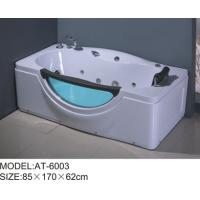 Wholesale 6 adjustable feet bubble jet bathtub White color , free standing air bathtubs excellent penetrability from china suppliers
