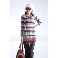Wholesale Fashion Pullover Cable Knit Sweaters / Long Striped Sweaters For Women from china suppliers