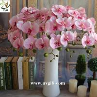 Wholesale UVG Colorful artificial flower wholesale with plastic orchid for wedding table decoration from china suppliers