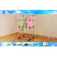 Wholesale Magic Aliform Telescopic Clothes Rack With Wheels , Clothes Rack For Drying from china suppliers