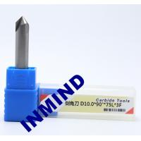 Wholesale Carbide Chamfer Tool Milling Machine End Mills , 8mm Diameter 90 Degree Milling Cutter from china suppliers