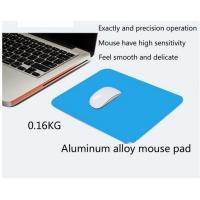 Wholesale Light Weight Silver Color Gaming Mouse Pads Durable with Rubber Backing from china suppliers
