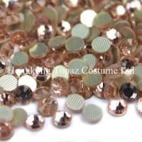 Wholesale peach/champagne color Round hotfix rhinestone flatback  Glass beads from china suppliers