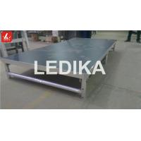Wholesale Portative Aluminum Adjustable Stage Platform Show Folding Stage 18mm Black from china suppliers