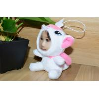 Wholesale White 10CM DIY 3D Face Stuffed Plush cat stuffed dolls with photo faces from china suppliers