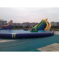 Wholesale Durable Inflatable Water Park Swimming Pools With Waterslides from china suppliers