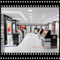 Wholesale cosmetic display showcase display stand with LED lighting from china suppliers