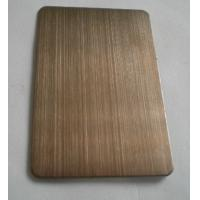 Wholesale Dark Brass Colored Ti-coating Hairline Decoration Stainless Steel Plates Anti-corrosive from china suppliers