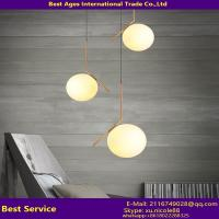 Quality Modern wrought iron glass ball home lighting/Iron pendant lamps/glass ceiling light for sale