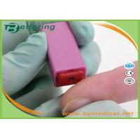 Quality Medical 28G Pink Colour Sterile Auto Pressure Activated Safety Blood Lancet Asepsis Blood Sample Collecting Needle for sale