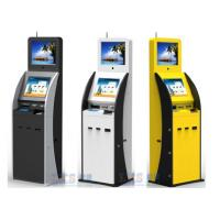 Wholesale Airport / Bank / Hospital Dual Screen Kiosk Ticket Vending Kiosk With Vertical Ad Display from china suppliers