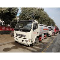 Wholesale Dongfeng Duolika 4*2 6.6cbm aluminum alloy fuel tank truck for sale,factory sale gasoline refueling tanker truck from china suppliers