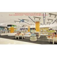 Wholesale Cross-border electricity suppliers experience store island tables and display racks in white wood and metal frame from china suppliers
