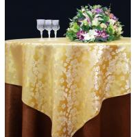 Wholesale Hotel / Cafes / Fast Food Restaurants Cotton Table Cloth With Golden Flower from china suppliers