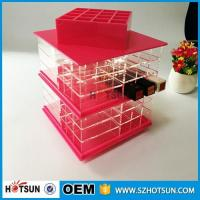 Wholesale 2016 Clear Plexiglass Lipstick Organiser Organizer Display Stand from china suppliers
