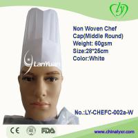 Wholesale Hot Sale! Non Woven Chef Cap (Middle Round) from china suppliers