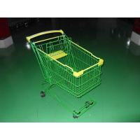 Wholesale Colored Coated Wicker Shopping Trolley with curved plastic handle from china suppliers