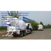 Wholesale 10tires Concrete Mixing Equipment truck of Sinotruk HOWO7 Concrete Mixer Truck with HW15710 gearbox and 8cbm tanker from china suppliers