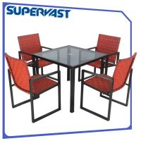 5pc Cross Weave Restaurant Patio Furniture For Outdoor