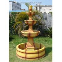 Wholesale Natural Marble 3 Tiers Garden Stone Water Fountain from china suppliers