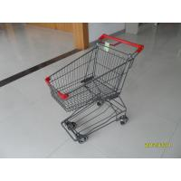 Wholesale Zinc Plating Wire Shopping Trolley 45L Super Market Shopping Cart For Small Market from china suppliers