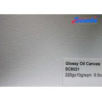 Wholesale Oil Canvas Cotton Print Fabric , Advertising White Striped Canvas Fabric from china suppliers