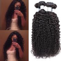 Wholesale Kinky Curly Peruvian Human Hair Weave , 6A / 5A Peruvian Virgin Hair For Aunty from china suppliers