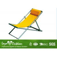 Wholesale Metal / Fabric Portable Folding Beach Chairs Collapsible L104 X W54 X H81 from china suppliers