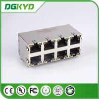 Wholesale Stack RJ45 Connector Dual Deck 2X4 Y/G RoHS 0879-2D4R-56 Plug Modular Rj45 from china suppliers
