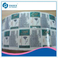 Wholesale Copper Stamping Foil Plastic Transparent Label , Self Adhesive Plastic Label For Cosmetic from china suppliers