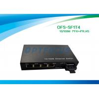 Wholesale Optical 4 Port Ethernet Switch 10 / 100BASE - Tx 100BASE - Fx 125×27×85 mm from china suppliers