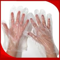 Quality Waterproof CPE Disposable Plastic Gloves , Embossed Disposable Kitchen Gloves for sale