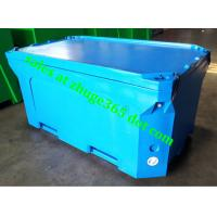 Wholesale Rotomolded 1500Liter Blue Insulated Fish Container Seafood Processing Insulated Container from china suppliers
