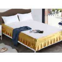 Wholesale Various Color Decorative Hotel Bed Skirts Washable With Rest Report from china suppliers