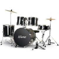 Wholesale Muse PVC Complete 5 Piece Junior Drum Set With Cymbal / Throne A525P-704 from china suppliers