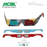 Wholesale Rainbow Anaglyph Red Cyan Stereoscopic Paper 3d Glasses For Cinema / Home Theater from china suppliers