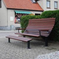 Wholesale Composite outdoor bench outdoor concrete bench outdoor public bench seat from china suppliers