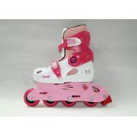 Wholesale Combo Kids Rollerblades Adjustable Roller Skates 4 Wheel Pink or Custom Color from china suppliers