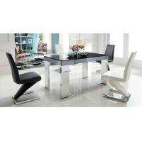 Wholesale simple dining set, dining table, glass table,fashion dining chairs, #6012 from china suppliers